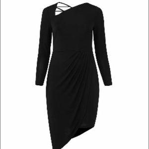 Eloquii Sexy Black Asymmetrical dress